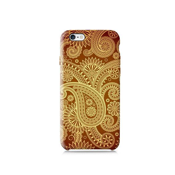 Gold Paisley Pattern #phonecase #design