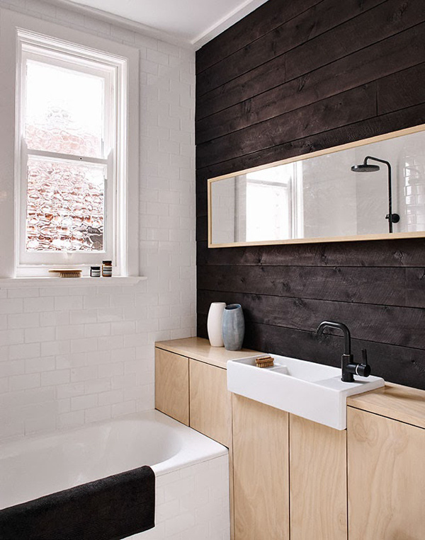 April and May #interior #wood #bathroom