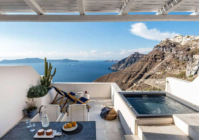 Full Renovation and Redesign of the Porto Fira Suites in Santorini #hotel #outdoor