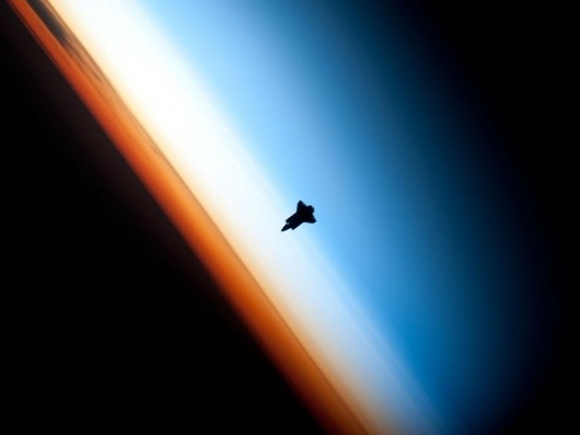 NASA - Shuttle Silhouette #shuttle #nasa #endeavour #space #photography