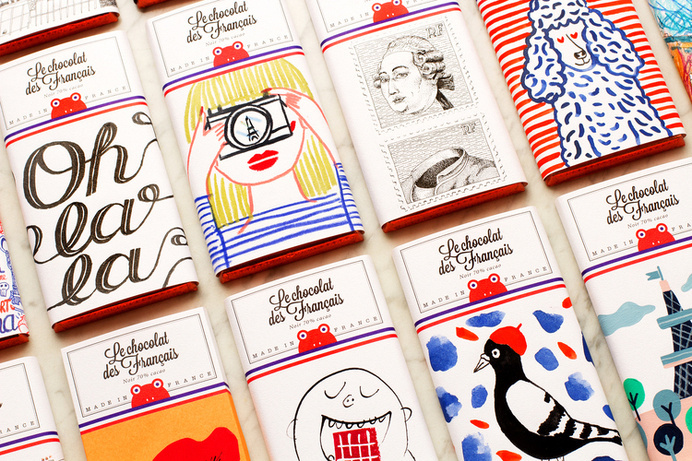 Chocolat des Francais #chocolet #packaging #sweet #illustration #french