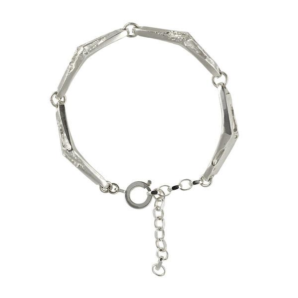 Via Volturno bracelet | SMITH/GREY #mens #accessories #white #b&w #silver #damaged #black #texture #jewellery #men #jewelry #and #fashion #ring #grey