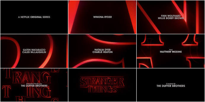#stranger #things #netflix #title #sequence