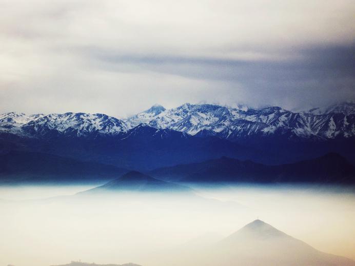 blue, mountains