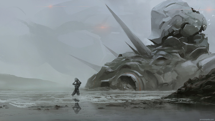 Rescue by jameszapata on deviantART #scifi #environment