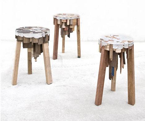 scrap stools #wood