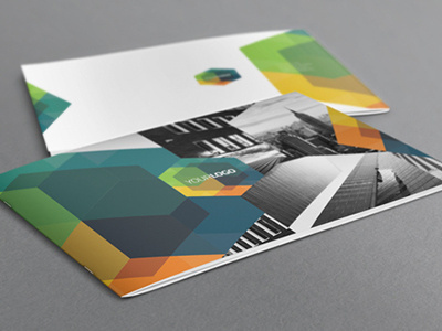 Brochure #modern #brochure #template #print #colorful #geometric #hexagon #simple