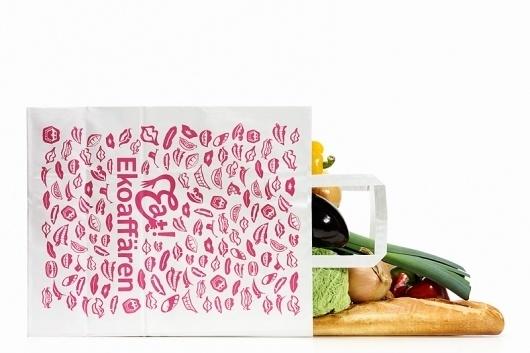Bedow — Examples of Work — Identity, Eat! Ekoaffären #bedow #graphic #identity