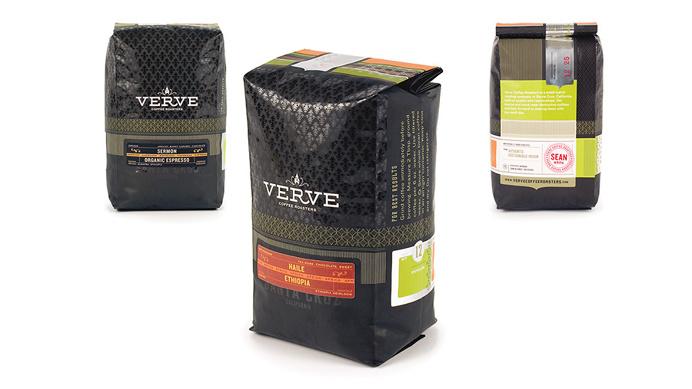 Verve, black, packaging, package, modern, bag