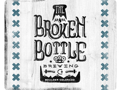 The_broken_bottle_brewing_co2 #packaging #beer #identity