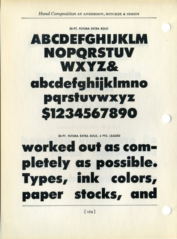 Futura Bold extra bold type specimen #type #specimen #font #typography