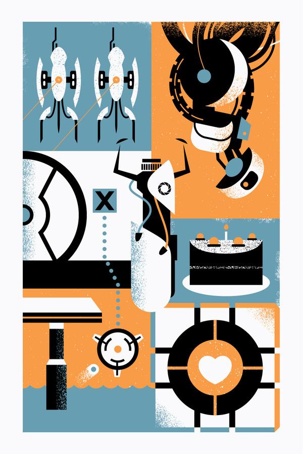 Illustration : bandito design co. #simple #portal #illustration