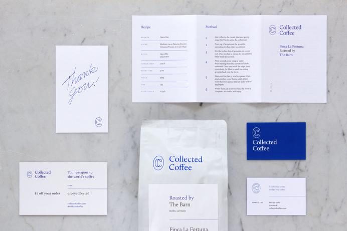 Collected Coffee / products shot #monogram #coffee #logo #singleline #ikblue #branding