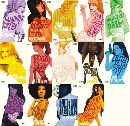 V as in Vulture - Mmm…Bond Girls. are2: 007 Penguin covers #movie #girls #illustration #poster #007