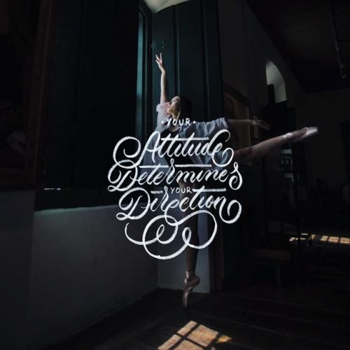 Your Attitude Determines Your Direction - 📷 by @nataliafigueredof - #lettering #handlettering #calligraphy #slowroastedco #goodtype #handmadefont #quotes #typism #typostrate #thedailytype #type #typography #brushlettering #50words #dance #typematters...