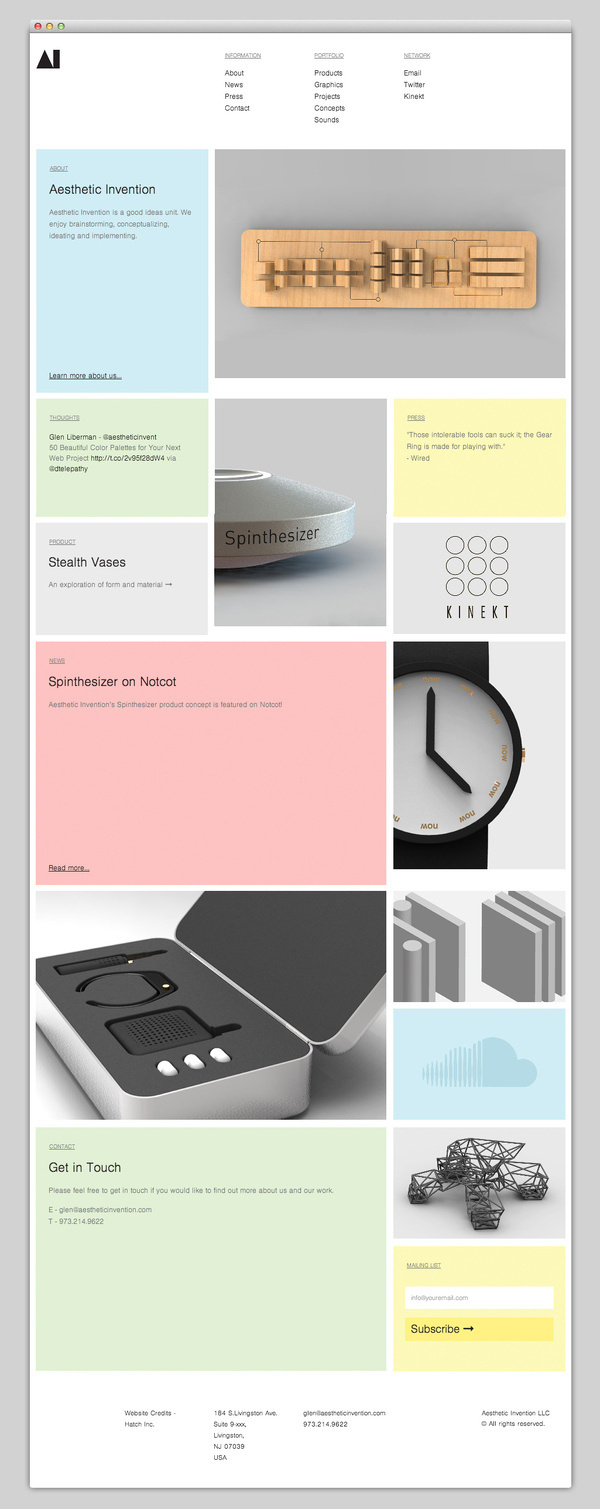 Aesthetic Invention #website #layout #design #web