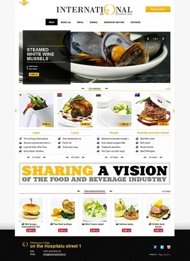 International restaurant on the Behance Network #website #photo