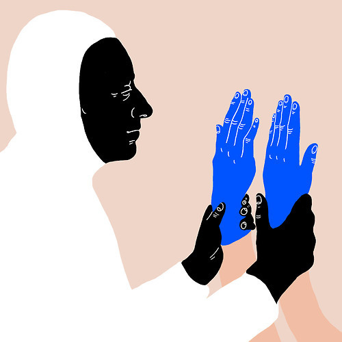 Blu #blue #illustration #drawing #hands