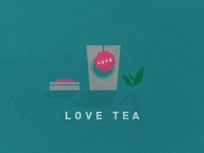 Dribbble - L O V E T E A by Jonathan Quintin #illustration #love #tea #green
