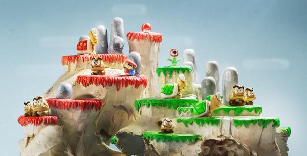 CJWHO ™ (Mario Level by Tobias Wüstefeld Tobias Wüstefeld...) #sculpture #mario #tobias #design #level #gaming #art #wstefeld #clever