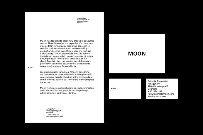 Moon – Identity #stationary #design #graphic #identity #typography