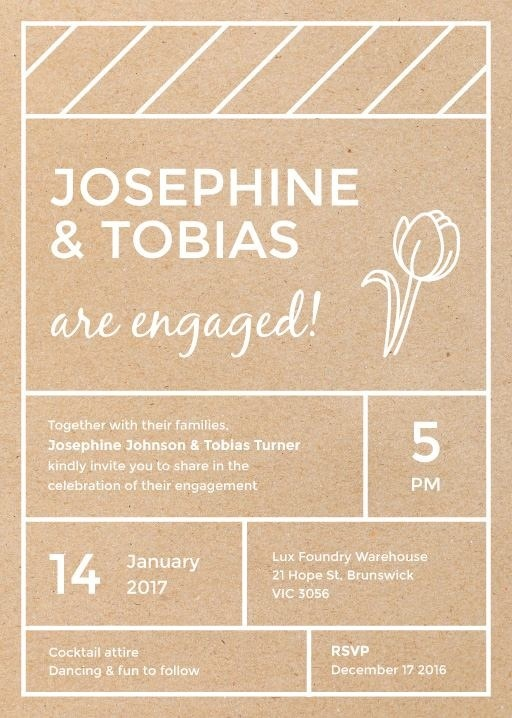 Simply Modern - Engagement Invitations #paperlust #engagementinvitation #engagementcard #engagementinspiration #design #paper #whiteink