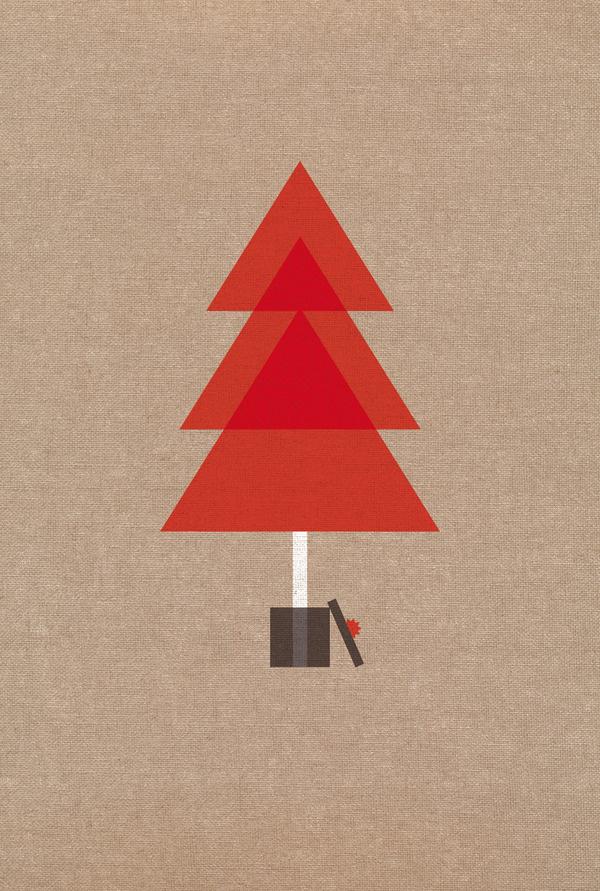 Cadena de Felicidad Temas mariadiamantes #tree #design #geometric #christmas #illustration #poster #postcard