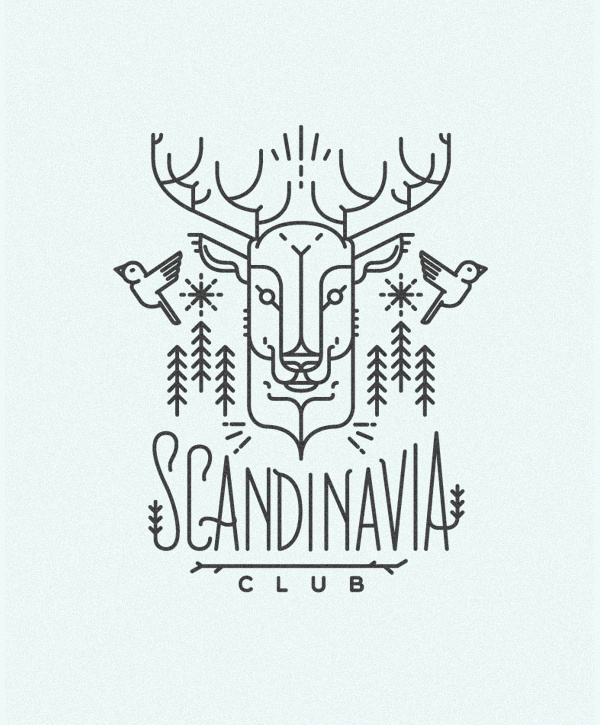 Scandinavia club illustration #line #design #illustration #art #drawing #scandinavia