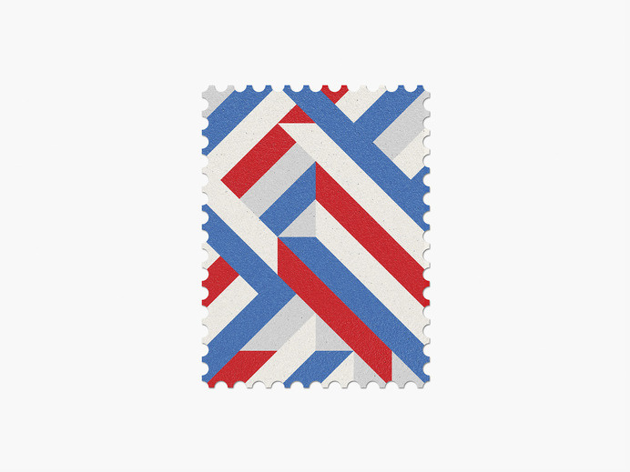 Russia #stamp #graphic #maan #geometric #illustration #minimal #2014 #worldcup #brazil