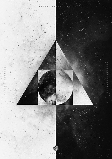 B&W on the Behance Network #white #space #black #stars #cosmos #buenos #and #nicolas #astral #lalli #aires