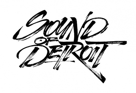 Carhartt SS 2011 - Sound of Detroit - chinese brush | Flickr - Photo Sharing! #calligraphy #lettering