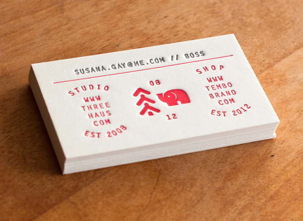 Additional Credits: Printing by Hobo Pres #letterpress #cards #business