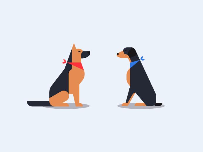 Dog illustration by Sascha Elmers #icon #icondesign #iconic #minmal #geometric #pet #dog #shepherd #doberman