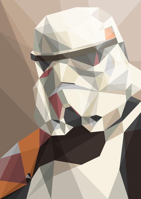 trooper polygonal star wars #trooper #storm #wars #star