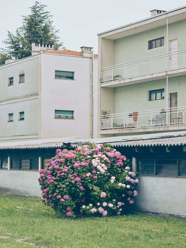 Housing from 1956 in the neighborhood called Canton Vesco, in central Ivrea.