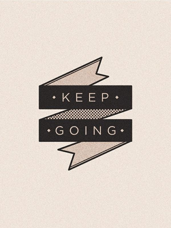 Keep going. Poster. #quote #vintage #ribbon #type #typography