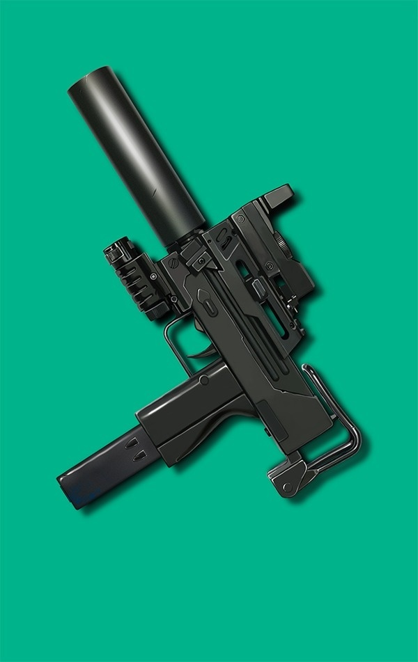 i love ingram #uzi #weapon #sillo #black #ingram #illustration #pantone