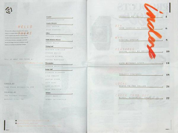 Catalyst Eric Andren #andren #newsprint #newspaper #publication #grid #spread #eric #layout
