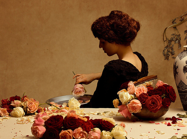 Scenography and Contemporary Photography by Brassesco and Passi | Hi Fructose Magazine #woman #flowers