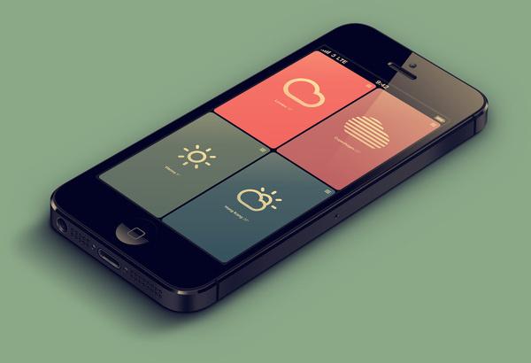 weather app #app #design #mobile #interface