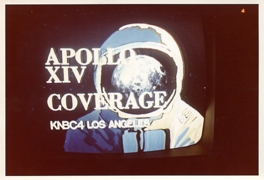 What Was On (In Space) Photographs of space missions on TV #apollo #space #moon
