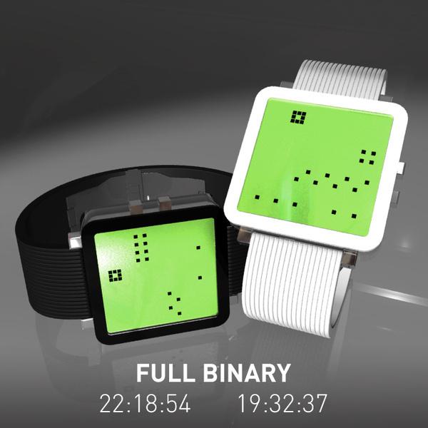 Full Binary LCD Watch #tech #amazing #modern #innovation #design #futuristic #gadget #ideas #craft #illustration #industrial #concept #art #cool