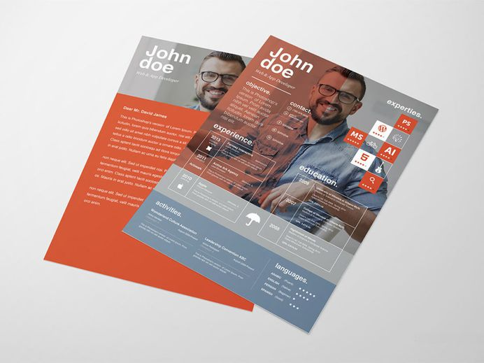 Free Innovative Resume Template with Stylish Design