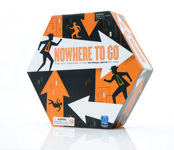 Nowhere to go #hexagon #packaging #board #illustration #arrow #game #character #toy