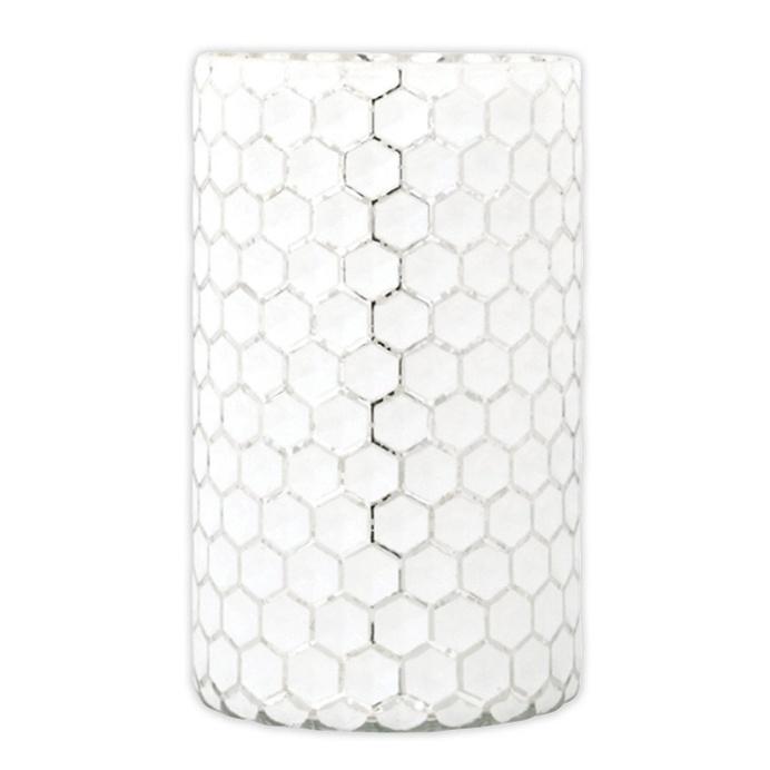 Melisand Glass Tealight Holder, 18cmH x 10.5cmD