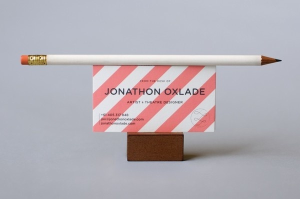 Jonathon Oxlade Identity — Standing By Co. #card #print #business