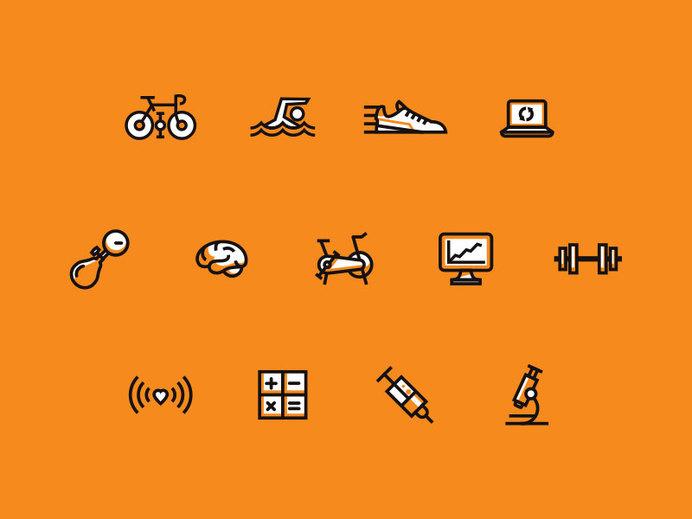 Fitness Iconz #icon #picto #pictogram #symbol #sign