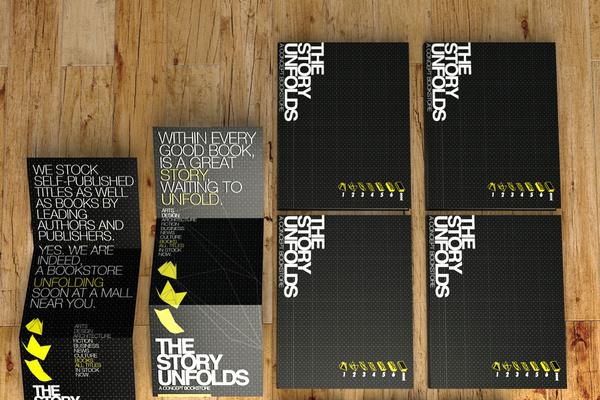 Leong Huang Zi #tech #fold #print #yellow #black #dots #grid #wood #type #folding #paper #story