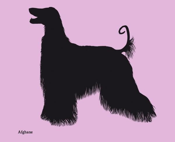Dog silhouettes (set 2) #fellerer #together #illustration #forever #marge #friends