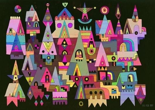 February : The World of C86   Matt Lyon #illustration #color #geometry